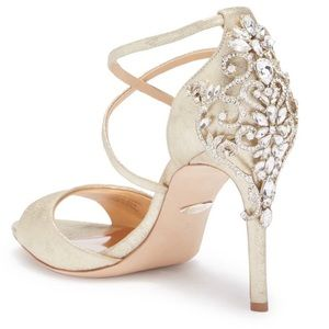 Badgley Mischka Karen Crystal Back Sandal